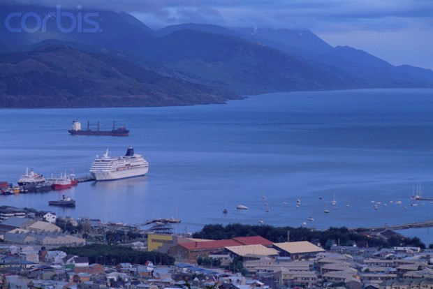 Antarctic Cruise Liner Docking in Ushuaia