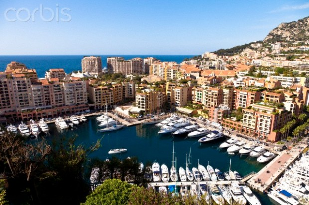 Fontvieille port in Principality of Monaco, Europe